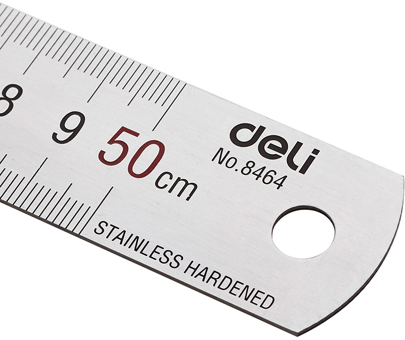 Metal Ruler Deli Stationery 50cm 183 Stationery